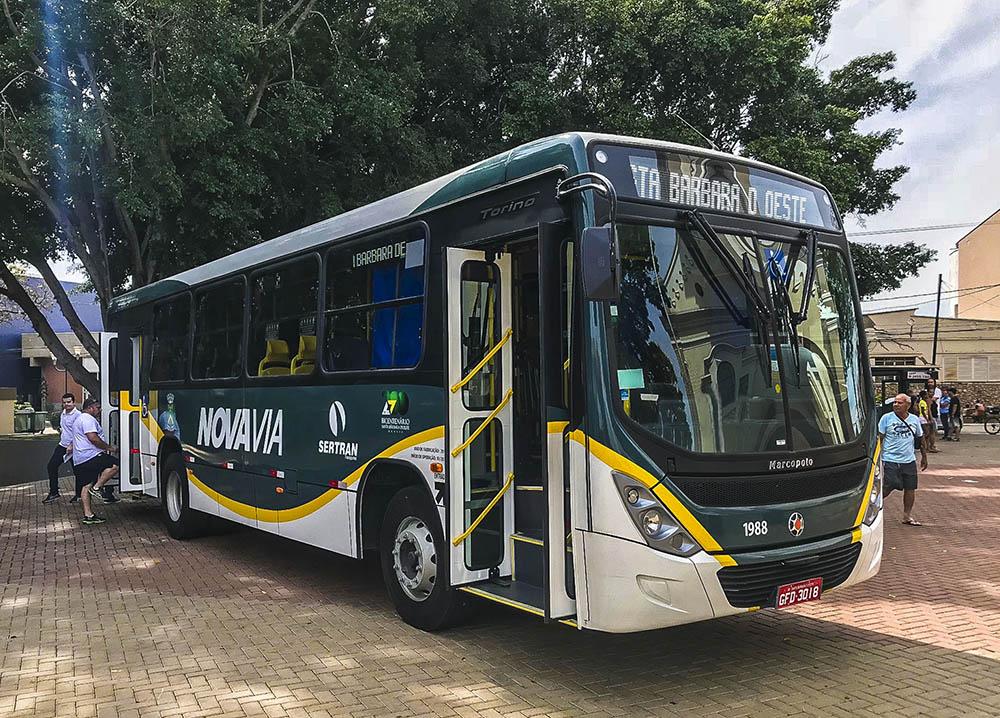 Santa Bárbara Du0027Oeste Recebe 12 Novos ônibus Marcopolo Torino Mercedes Benz