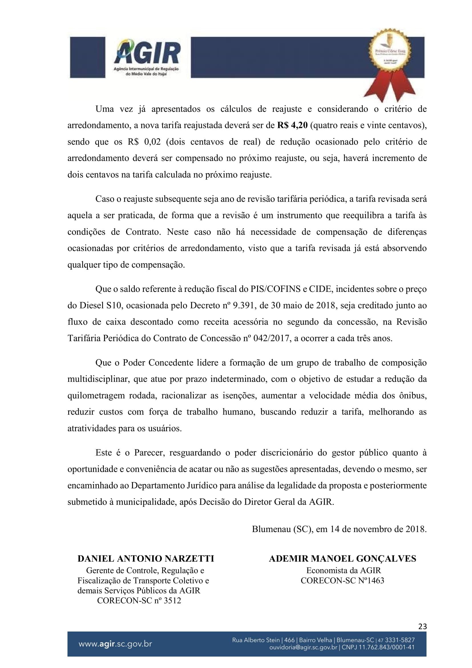 Parecer Administrativo nº 70-2018-23