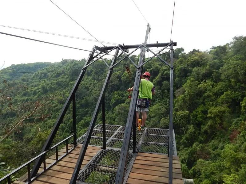 A Queda Livre, novo atrativo no Ecoparque. Queda de 25 metros.