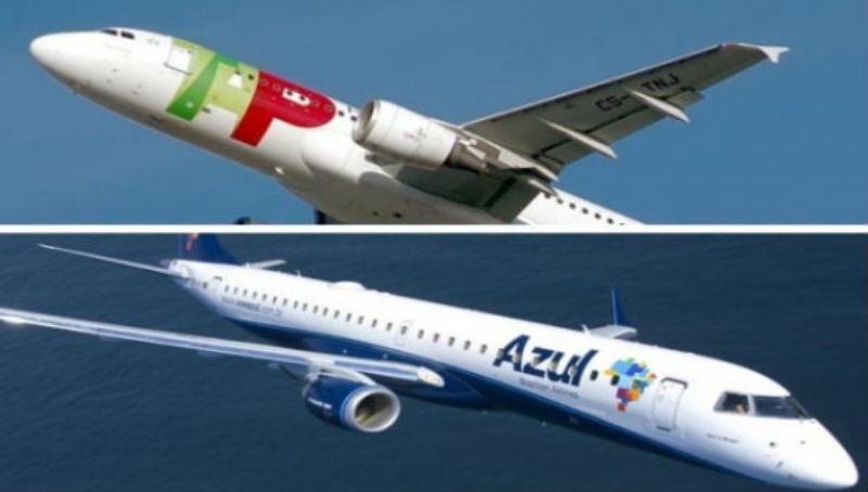 TAP e Azul iniciam voos compartilhados dia 10 de Dezembro