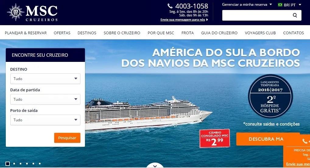 MSC lança novo site para atender diferentes perfis de viajantes