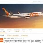 GOL lança canal para check-in pelo Twitter