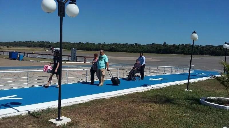 Aeroporto de Marabá ganha nova passarela de pedestres no desembarque