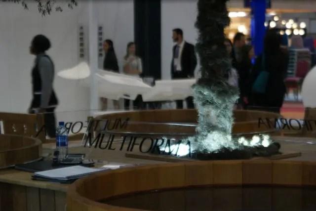 Marca Multiforma representa o estande do Spa Conceito no evento. (Foto: DIÁRIO)