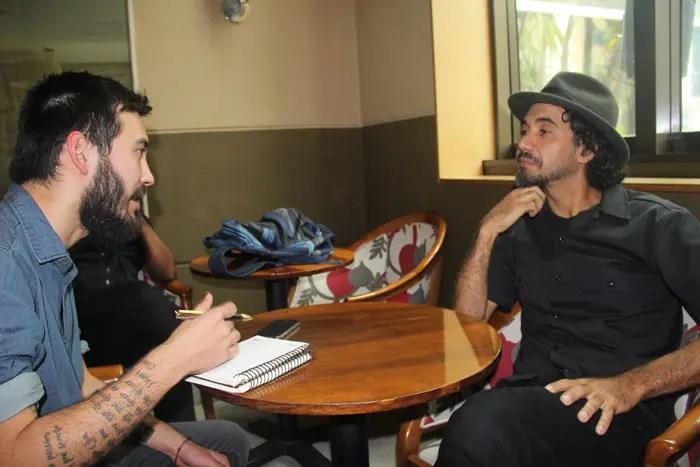 Kobra durante a entrevista concedida ao repórter do DT, Marcos Vinícius Sokabe
