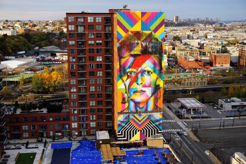 Mural de Kobra sobre David Bowie nosEUA atrai fãs