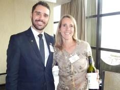 Jean-Bruno Gillot, da Cap Amazon, com Cecilia Diaz, do Cavas Wine Lodge (Foto: Marcos Oliveira)