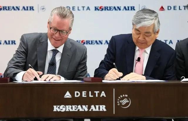 Acordo entre Delta Air Lines e Korean Air resulta em joint venture