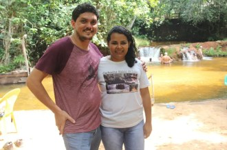 Bruno Braga e Erly Torres, do Camping Cachoeira do Leão