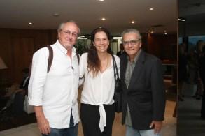 Ricardo Medeiros, Cristina Braga e Jorge Salomão