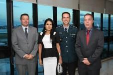 Marcelo Tesserolli, Erika Andrade , Major Douglas Andrade e Bayard Boiteux