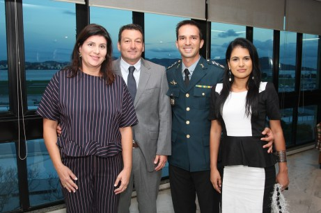 Ana Cristina Rosado, Marcelo Tesserolli, Erika Andrade e Major Douglas Andrade