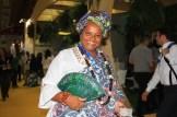 A baiana e seu sorriso, simboliza a alegria do seu estado na WTM Latin America. (Crédito: Ana Azevedo)