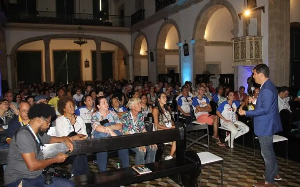 Palco do 39º Congresso Brasileiro de Guias de Turismo, Convento do Carmo impressiona