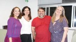 Mary, Lisete, Cristiano e Lorna