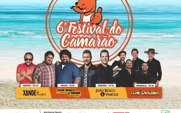 6º Festival do Camarão em Porto Belo SC terá shows nacionais gratuitos