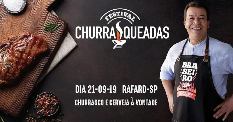 Festival Churrasqueadas acontece em 21 de setembro no interior de São Paulo