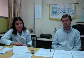 Alvaro Amaya y Carolina Martínez.