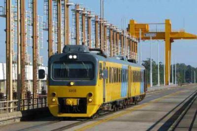 Un cochemotor Whadloper de industria alemana idem al Tren de los Pueblos Libres