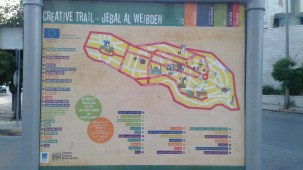 Mapa del barrio Jebel Weibdeh