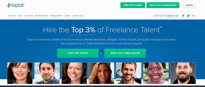 Toptal la plataforma del 3% superior de freelancers