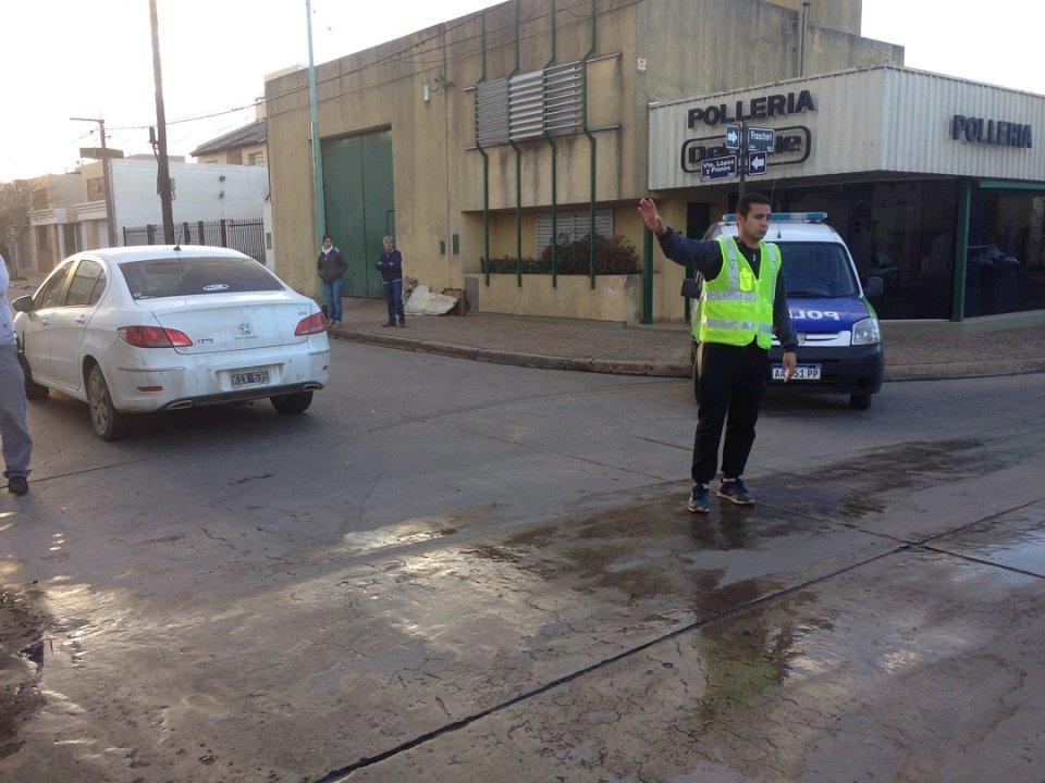 Accidente móvil policial