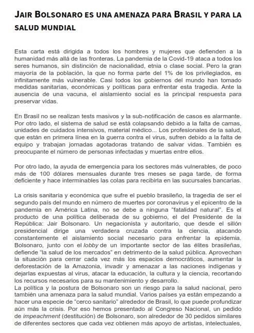 Jair Bolsonaro es una amenaza para Brasil y para la salud mundial_001