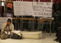 Cientos de militares bolivianos salieron a protestar por mejoras salariales y demás beneficios  AGENCIAS