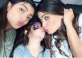 Chiqui se muestra con sus dos hijas en el día de su cumpleaños