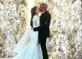 """La fotografía del rapero y la estrella de la telerrealidad, con un delicado y clásico vestido Givenchy, obtuvo 2,4 millones de """"corazones rojos"""