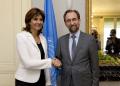 Holguín llegó a Ginebra para entrevistarse con el alto comisionado de Naciones Unidas para los Derechos Humanos, Zeid Ra'ad al Hussein