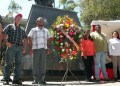 Ofrenda floral al monumento de El Libertador