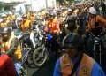 Motorizados arrancaron desde distintos puntos hasta congregarse en la avenida Bermúdez