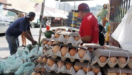 Semanalmente aumenta el precio de los huevos. Foto: Deisy Peña