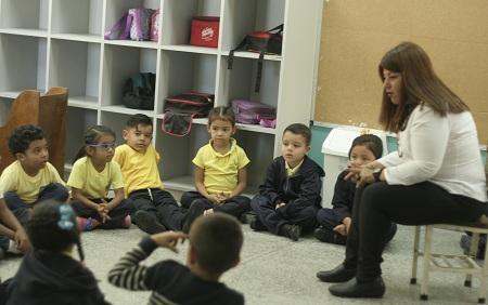 Alumnos realizaron actividades recreativas como bienvenida Foto: Deysi Peña