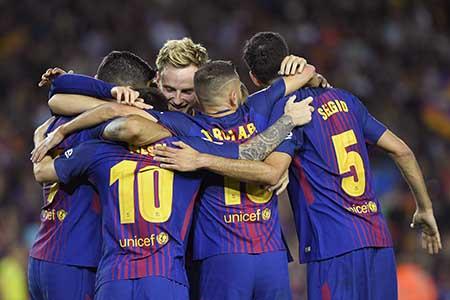 Gran inicio para el Barcelona de Messi Lluis Gene / AFP