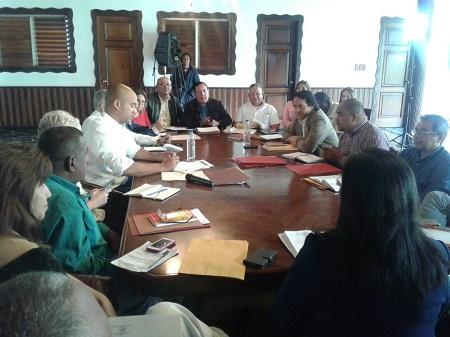 Reunión se desarrolla esta mañana en la Casa Amarilla