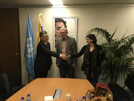 Ministro Jaua sostuvo encuentro con el secretario del Partido Comunista de Francia