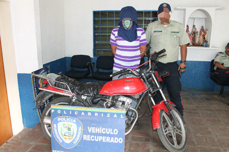 Policarrizal recupera moto robada