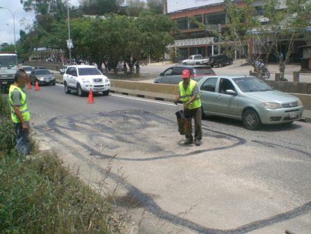 El martes fue asfaltado el km 15