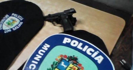 Arma incautada a homicidas