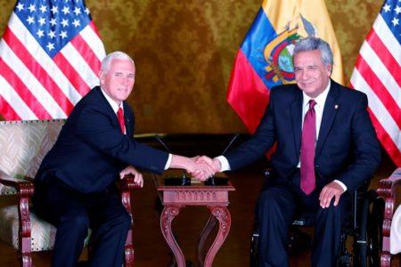 Venezuela y la relación comercial centrarán la parada de Pence en Ecuador
