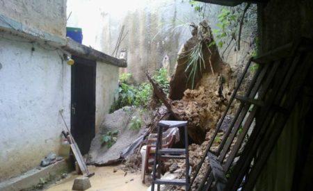 Una casa colapsada, árboles caídos y vías inundadas dejan lluvias en Miranda