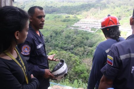 PC Los Salias inspeccionó zona vulnerable por las lluvias en Los Salias