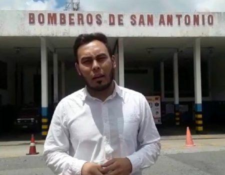 Edgar Laya denunció situación critica de los bomberos