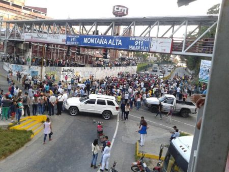 Durante varias semanas se registraron protestas en Montaña Alta contra el Gobierno Nacional en 2017