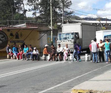 Protesta por gas registrada el lunes en Los Teques