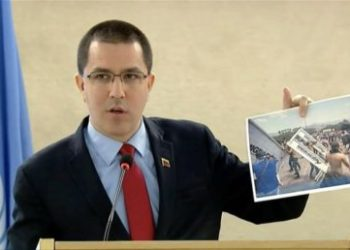Boicot al ministro de Exteriores de Venezuela durante un discurso en la ONU