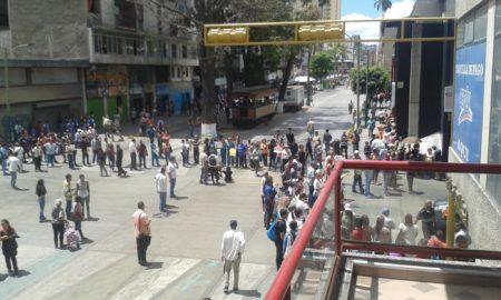 Protesta en la avenida Bermúdez de Los Teques