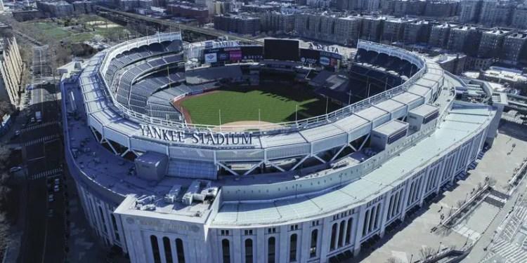 Vista aérea del Yankee Stadium en Nueva York